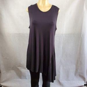 LOGO Layers Black Sleeveless Tunic Sized Top Sz XL